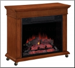 Electric fireplace w/ Casters (SKU: CO-900344)
