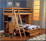 Twin-over-Full Bunk Bed with 2 Storage Drawers (SKU: CO- 460141)