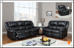 U1078 Global Furniture USA Black Microfiber Reclining Sofa and Loveseat (SKU: GL-U1078)