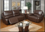 U1027 Global Furniture USA Brown Power Reclining Sofa and Chair (SKU: GL-U1027-BRWLRS)
