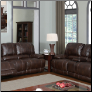 Brown Bonded Leather 2 PC Reclining Sofa Set with Decorative Stitching (Sofa, Loveseat and Recliner)