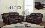 Brown Printed Micro 2 PC Sofa Set (Sofa and Loveseat)