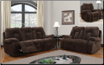 Chocolate 2 PC Reclining Sofa Set (Sofa and Loveseat)