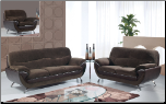 U4160 Global Furniture USA Champion Chocolate Sofa and Loveseat (SKU: GL-U2106-CHCO)