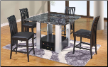 GF-7040 Bar Table - Black Set By Global Furnither USA