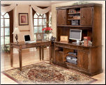 Hamlyn Large Credenza w/ Large Hutch - Home Office Set Signature Design by Ashley Furniture (SKU: AB-H52746/49)