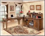 Hamlyn Large Credenza w/ Low HutchHome Office Set Signature Design by Ashley Furniture (SKU: AB-H527)