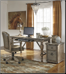 Tanshire - Grayish Brown Home Office Desk Collection by Ashley Furniture (SKU: AB-H688-27)
