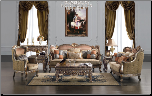 Formal Sofa & Love Seat Traditional Antique Style Living Room Set HD-1628 (SKU: HD-1628-LRSET)