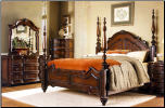 Traditionally Styled Dark Color Bedroom Set with Poster Bed, 'Prenzo' Collection by Homelegance. (SKU: HE-  1390QBS)