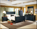 Traditional Classical Cottage Design Bedroom Set, 'Pottery' Collection by Homelegance (SKU: HE-875QBS)