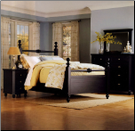 Traditional Country Cottage Style Bedroom Set with Panel Bed, 'Hanna' Collection by Homelegance. (SKU: HE-889BK-QBS)
