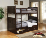 Twin Bunk Bed with Under Bed Storage Drawers (SKU: CO-460136)