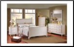 Traditional Classical Cottage Design Bedroom Set, 'Pottery' Collection by Homelegance (SKU: HE-875W-KBS)