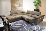 J & M Furniture Stylish Leather Sectional 5069L w/Adjustable Seat (SKU: JM-5069)
