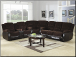 Johanna Chocolate Corduroy 3 Piece Reclining Sectional (SKU: CO 600363S-sec)