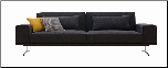 J & M Charcoal Grey Fabric K-56 Sofa Bed (SKU: JM-K56)