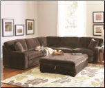 COASTER LUKA CB CASUAL L-SHAPED SECTIONAL WITH TRACK ARMS AT AL-MART FURNITURE