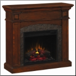 Mahogany Dual Mantel Electric Fireplace with Corner Option (SKU: CO-900372N)