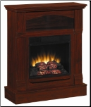 Mahogany Wall Mantel Electric Fireplace (SKU: CO-900371N)