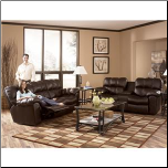 Max - Chocolate Leather Living Room Set Signature Design by Ashley Furniture (SKU: AB-   96501SET)