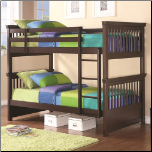 Twin Bunk Bed with Spindle Headboard and Footboard (SKU: CO-460266)
