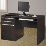 Ontario Contemporary Single Pedestal Computer Desk with Charging Station by Coaster (SKU: CO-800702)