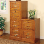 Palmetto Oak File Cabinet with 4 Drawers by Coaster (SKU: CO-5318N)