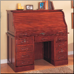 Palmetto Deluxe Roll Top Cherry Computer Desk by Coaster (SKU: CO-800531)