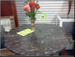 FLOOR SAMPLE ROUND TABLE MARBLE TOP (SKU: FL-ROUNDTABLE)
