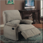Microfiber Upholstered Glider Recliner (SKU: CO-600267G)