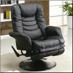 Casual Leatherette Swivel Recliner (SKU: CO-600229)