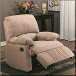 Microfiber Upholstered Glider Recliner (SKU: CO-600264G)