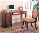 Riverland Kidney Shaped Single Pedestal Computer Desk by Coaster (SKU: CO-800021)