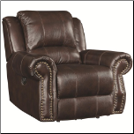 Casual Rocker Recliner in Soft Brown Upholstery (SKU: CO-650163)