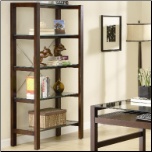 Skillman Contemporary Bookcase with 5 Glass Shelves by Coaster (SKU: CO-800943)