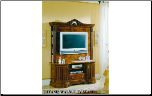 TIFFANIE WALNUT TV STAND BY GLASS-FORM COLLECTION (SKU: GF-TIFFANIE-ENTRSET)