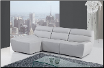 U3730 Sectional in Grey Bonded Leather by Global Furniture USA (SKU: GL-U3730-SECTIONAL)