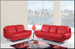 Bonded Leather 2 PC Sofa Set with Tufted Backs (Sofa and Loveseat) (SKU: GL-UA4120)