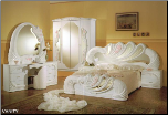 VANITY QUEEN SIZE  BEDROOM SET BY GLASS-FORM COLLECTION (SKU: GF-VANITY-Q)