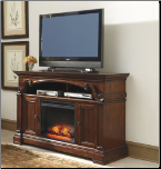 Alymere 60-Inch TV Stand  W/ Fire place  by Ashley Design (SKU: AB- W669-68-W100-01)
