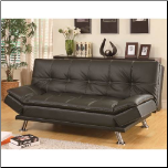 Coaster Furniture 300281 Contemporary Futon Sleeper Sofa Bed in Black (SKU: CO - 300281)