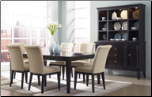 Martini Suite  -  Stylish Contemporary Solid Wood Dark Dining Room Set (SKU: AB-D551-T)