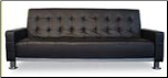 Fina Black Leather Sofa Bed (SKU: AHU-FINAB)