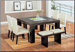 Elegant Dinette Set with Chairs in  Brown or Beige  Bicast Leather By Global Furnither USA (SKU: GL-DG020DT  DG020DC-BEI)