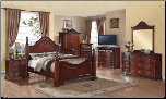 Traditional Complete Queen Bedroom Set (SKU: HL-B190QSET)