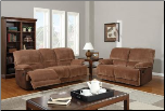 Champion Brown Sugar 2 PC Reclining Sofa Set with Accent Stitching (Sofa, Loveseat and Recliner)