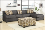 POUNDEX Furniture - Montreal Slate Small Sectional Sofa - F7449/F7448 (SKU: PXSS-F7448-SECC-648153472)