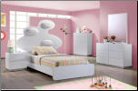 Global Furniture USA Lola Platform Bedroom SET (SKU: GL-LOLA -WHTSET)