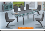 Contemporary Stylish Dinette Table With Extendable Glass Top